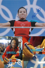 Christine Girard Signed 2012 London Olympics Canada Weightlifting Bronze Photo