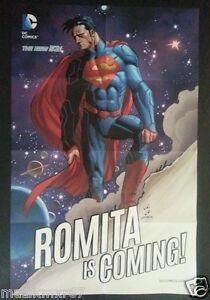 WonderCon 2014 Handout NEW 52 DC Comics SUPERMAN Promo Poster ROMITA IS COMING