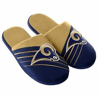 Pair Los Angeles Rams Big Logo Slide Slippers Team Color House shoes BLG16 Style