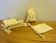 """1 NEW COTTON MUSLIN BAG WITH DRAWSTRINGS 4"""" BY 6"""" BATH SOAP HERBS QUALITY BAGS"""