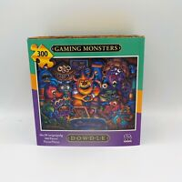 """Dowdle Folk Art Gaming Monsters Collectors Jigsaw Puzzle 300 Pieces 16 x 20"""" NIP"""