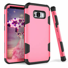 For Samsung Galaxy S8 S9 Plus Note 9 Hybrid Rubber Shockproof Armor Case Cover