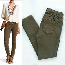 MISS ME Women's NWOT Mid-Rise Skinny Ripped Army Military Green Jeans Size 26