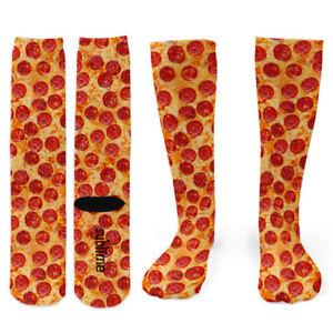 Pepperoni Pizza Knee Socks - Footnotes Novelty Socks