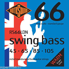 Rotosound RS66LDN Swing Bass Guitar Strings-Nickel Roundwound 40-105 STD Gauge
