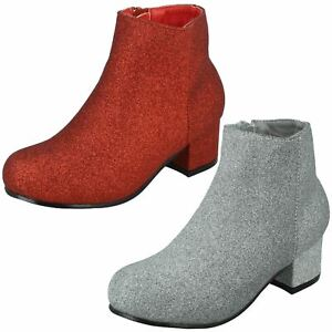 Spot On Girls Heeled Ankle Boots