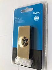 Byron 2204 PARETE con cavo porta campanello ottone-Solid