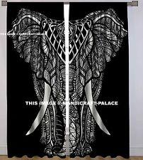 Mandala Baumwolle Vorhang Indischen Raum Hausdekor Vorhang 2 Stück Set Platte