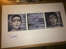 "HR Giger artwork ""KOO KOO""  Autographed Debbie Harry of BLONDIE Hand Signed"