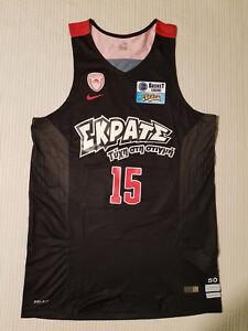 Olympiacos Olympiakos Basketball Jersey Issued Printezis #15  Size 50 (L)