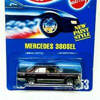 1991 Hot Wheels Mainline Mercedes 380SEL Maroon Red w Chrome 5sp Collector #253