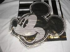Medium Woman's Mickey Mouse Long Sleeved Football Sytle Tee Shirt NWT