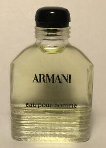 Vintage  Armani By Giorgio Armani Men Cologne .33 oz / 10 ml Eau Pour Homme Rare
