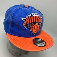 New Era Cap NBA NY Knicks Royal Blue Orange 9FIFTY Snapback Hat