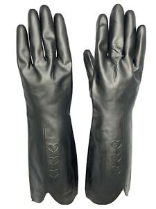 HEAVY Duty Rubber/washing up gloves Black Heart Gripped M 32cm long MARIGOLDS