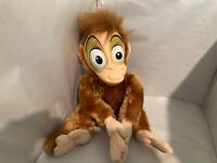 """Rare Disney Store Plush Doll Stuffed Animal Abu Aladdin Toy Monkey 17"""" FS VTG"""