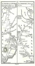 Antique map, Roads from New Ross to Fethard, Wexford to Tintern, ..