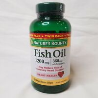 Nature s Bounty Fish Oil 90 Rapid Release Softgels Gluten-Free, *Not Twin Pack*