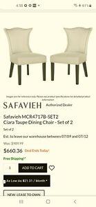 Safavieh Safavieh Ciara Side Chairs in Taupe (Set of 2)