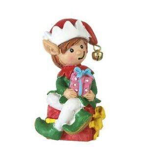 "Mini Elf Figurine Holding Gifts 2 x 2.5 "" DA  30079817 Miniature Fairy Garden"