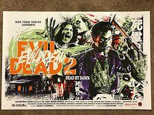 James Rheem Davis Ash Vs Evil Dead 2 II Print Movie Poster Mondo Bruce Campbell