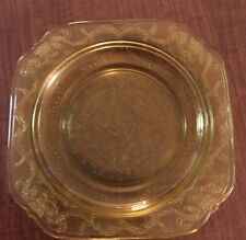 "LOT OF 2 Depression Amber Glass Federal Madrid Salad Plates UNUSED COND 7 3/8""D"