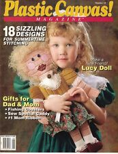 Plastic Canvas Magazine No 14 Fishing Coasters, Lucy Doll, Mom & Dad Gifts