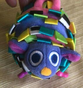 BABY Plush SASSY Stuffed Animal mouse Rattle Toy Ribbon Tags