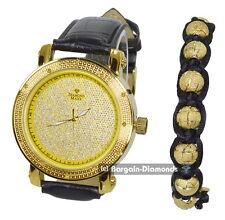 mens diamond gold tone clubbing watch shamballa deluxe gift set Maxx