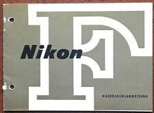 Nikon F - Anleitung von 11.70