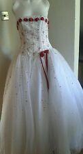 Tiffany Bling Rosso E Bianco Abito da sposa abito da sera/8