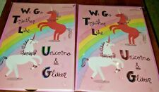 LOT 2 PAPYRUS FRIENDSHIP BFF ANY OCCASION UNICORN RAINBOW SPARKLES CARDS