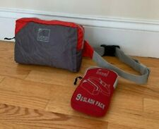 Lewis N. Clark Ripstop Nylon Ultra Lightweight Waist Pack in Red and Gray