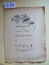 G. VERDI - LA TRAVIATA - PRELUDIO DELL'ATTO III - RICORDI & C.