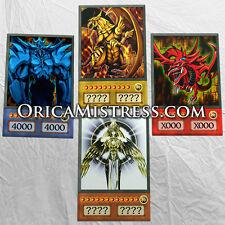 Yu-Gi-Oh! Custom Anime Orica - EGYPTIAN GODS #2 - 4 Card Set