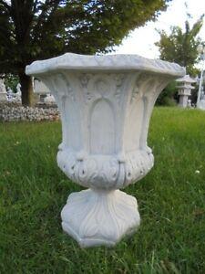 Pflanzamphore, Pflanzkübel, Amphore, Steinguss, 52 cm Blumenschale, Gartendeko