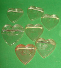 """Vintage Heart Shaped Plastic Stands for Dolls about 8""""  Lot of 7   Knickerbocker"""