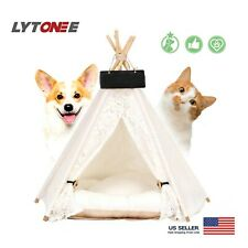 Medium Size Dog Cat Tent Pet Beds Accessories Teepee Wooden Pet Tents Pet House