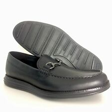 Cole Haan Mens LunarGrand Black Leather Venetian Loafers Size 9.5 Dress Shoes 43