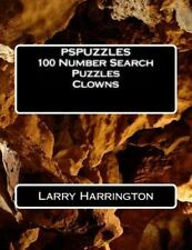 PSPUZZLES 100 Number Search Puzzles Clowns by Larry Harrington (2015,...