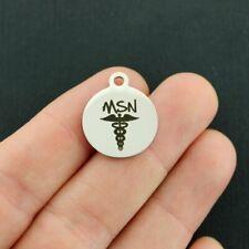 Nurse Stainless Steel Charms - MSN Master of Science in Nursing - BFS2085