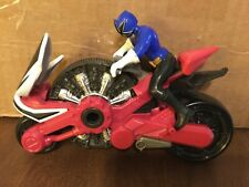 Power Rangers Samurai Red Disc Cycle Motorcycle and blue cyclist 2010 Bandai