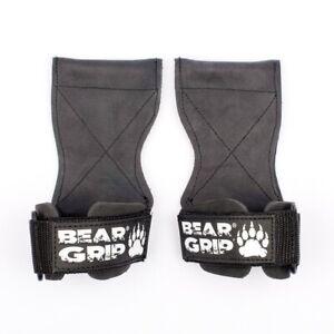 BEAR GRIP Multi Grip Straps/Hooks,Premium Heavy duty weight lifting straps/glove