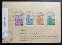 1946 Leipzig Germany Allied occupation Censored Cover Fair Imperf Stamp