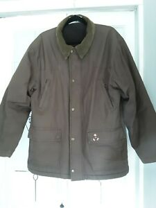 "Mens L 24""ptop DISNEY RESORT PARIS barber style Fleece Lined  Mickey Mouse coat"