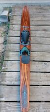 """New listing VINTAGE BEAUTIFUL DESIGN 70's CONNELLY HOOK 69"""" WOOD SLALOM WATER SKI.  Nice!!!!"""