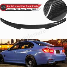Carbon Fiber M4 Style Rear Trunk Spoiler Lip For BMW F30 3 Series Sedan 2012-17