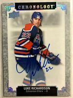 2018-19 Chronology Luke Richardson Franchise History Autographs #FH-ED-LR Oilers