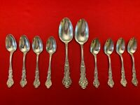 10 Pcs.CHARTER OAK 1847 Rogers Bros. Silverplate Flatware Table Use or Craft Lot