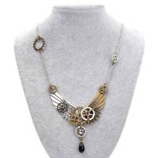 Punk Style Wings and Mixed Gears Vintage Steampunk Necklace Jewellery Collar